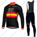 2017 Team etixxl QUICK STEP Spain Cycling Long Bib Suit Black Red Yellow