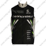 2013 Team Cannondale Cycling Vest Sleeveless Waistcoat Rain-proof Windbreak Black