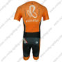2013 Team Euskaltel EUSKADI Short Sleeves Triathlon Biking Apparel Skinsuit Orange Black