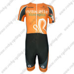 2013 Team Euskaltel EUSKADI Short Sleeves Triathlon Cycling Wear Skinsuit Orange Black