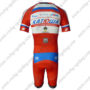 2013 Team KATUSHA Short Sleeves Triathlon Biking Clothing Skinsuit Red