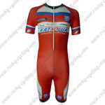 2013 Team KATUSHA Short Sleeves Triathlon Cycle Wear Skinsuit Red