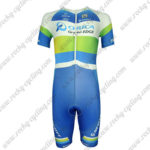 2013 Team ORICA GreenEDGE Short Sleeves Triathlon Cycling Wear Skinsuit Blue