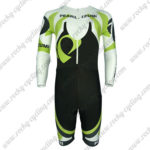 2013 Team PEARL IZUMI Long Sleeves Triathlon Cycling Wear Skinsuit Black White Green