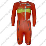 2013 Team PINARELLO Long Sleeves Triathlon Biking Outfit Skinsuit Red Yellow