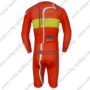2013 Team PINARELLO Long Sleeves Triathlon Riding Apparel Skinsuit Red Yellow