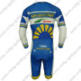 2013 Team Vacansoleil DCM Long Sleeves Triathlon Biking Outfit Skinsuit Blue