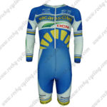 2013 Team Vacansoleil DCM Long Sleeves Triathlon Riding Apparel Skinsuit Blue