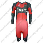 2014 Team BMC Long Sleeves Triathlon Riding Wear Skinsuit Red Black