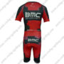 2014 Team BMC Short Sleeves Triathlon Cycle Apparel Skinsuit Red Black