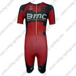2014 Team BMC Short Sleeves Triathlon Riding Wear Skinsuit Red Black