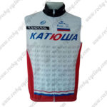 2014 Team KATUSHA Cycling Vest Sleeveless Waistcoat Rain-proof Windbreak White Red