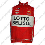 2014 Team LOTTO BELISOL Cycling Vest Sleeveless Waistcoat Rain-proof Windbreak Red White