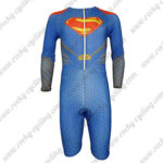 2015 Superman Long Sleeves Triathlon Biking Clothing Skinsuit Blue