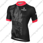 2015 Team BIANCHI Cycle Jersey Maillot Shirt Black Red