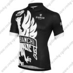 2015 Team BIANCHI Cycling Jersey Maillot Shirt Black