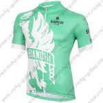 2015 Team BIANCHI Cycling Jersey Maillot Shirt Green