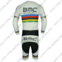 2015 Team BMC UCI Champion Long Sleeves Triathlon Biking Outfit Skinsuit White Rainbow
