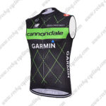 2015 Team Cannondale GARMIN Cycling Sleeveless Vest Tank Top Black Green