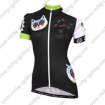 2015 Team Nalini Kitten Women's Lady Cycling Jersey Maillot Shirt Black