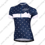 2015 Team Nalini funtional Women's Lady Cycling Jersey Maillot Shirt Blue