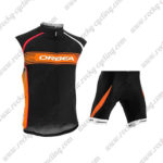 2015 Team ORBEA Bicycle Sleeveless Vest Kit Black Orange