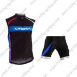 2015 Team ORBEA Cycle Sleeveless Vest Kit Black Blue