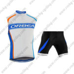 2015 Team ORBEA Cycle Sleeveless Vest Kit White Blue