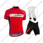 2015 Team ORBEA Cycling Bib Kit Red White