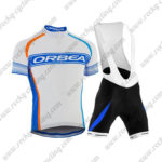 2015 Team ORBEA Cycling Bib Kit White Blue