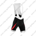 2015 Team ORBEA Cycling Bib Shorts Bottoms Black Red