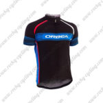 2015 Team ORBEA Cycling Jersey Maillot Black Blue