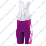 2015 Team SCOTT Women's Lady Cycle Bib Shorts Bottoms Purple White