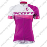 2015 Team SCOTT Women's Lady Cycle Jersey Maillot Shirt Purple White