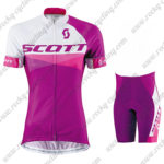 2015 Team SCOTT Women's Lady Cycling Kit Purple White