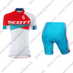 2015 Team SCOTT Women's Lady Cycling Kit Red Blue White