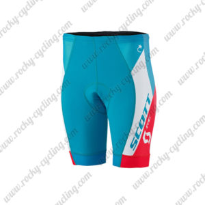 2015 Team SCOTT Women's Lady Cycling Shorts Bottoms Blue White Red