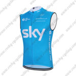 2015 Team SKY Cycling Sleeveless Vest Tank Top Blue