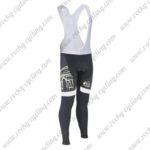 2015 Team Tour de France Cycle Long Bib Pants Tights Black White