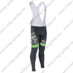 2015 Team Tour de France Cycling Long Bib Pants Tights Black Green