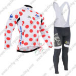 2015 Team Tour de France Cycling Long Bib Suit Polka Dot