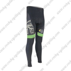 2015 Team Tour de France Cycling Long Pants Tights Black Green