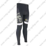 2015 Team Tour de France Cycling Long Pants Tights Black White