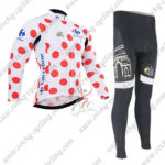 2015 Team Tour de France Cycling Long Suit Polka Dot