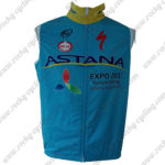 2016 Team ASTANA Riding Vest Sleeveless Waistcoat Rain-proof Windbreak Blue