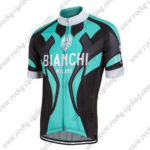 2016 Team BIANCHI MILANO Cycle Jersey Maillot Shirt Blue Black