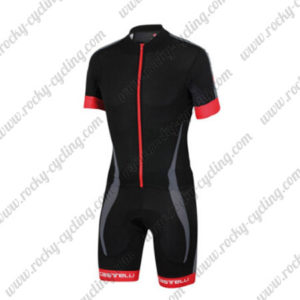 2016 Team Castelli Short Sleeves Triathlon Biking Apparel Skinsuit Black