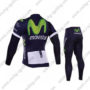 2016 Team Movistar Bicycle Long Suit Blue
