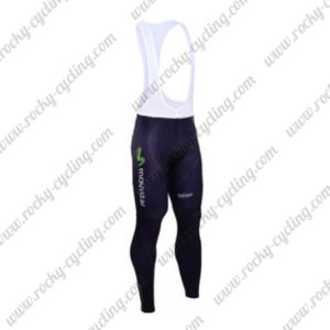 2016 Team Movistar Cycling Long Bib Pants Tights Blue