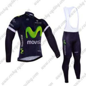 2016 Team Movistar Cycling Long Bib Suit Blue